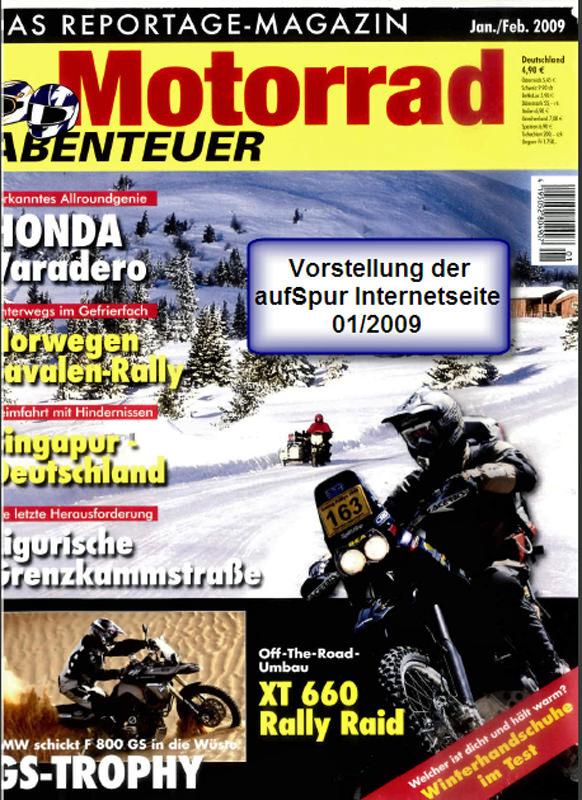 2009 Jan Motorradabenteuer aufSpurHP