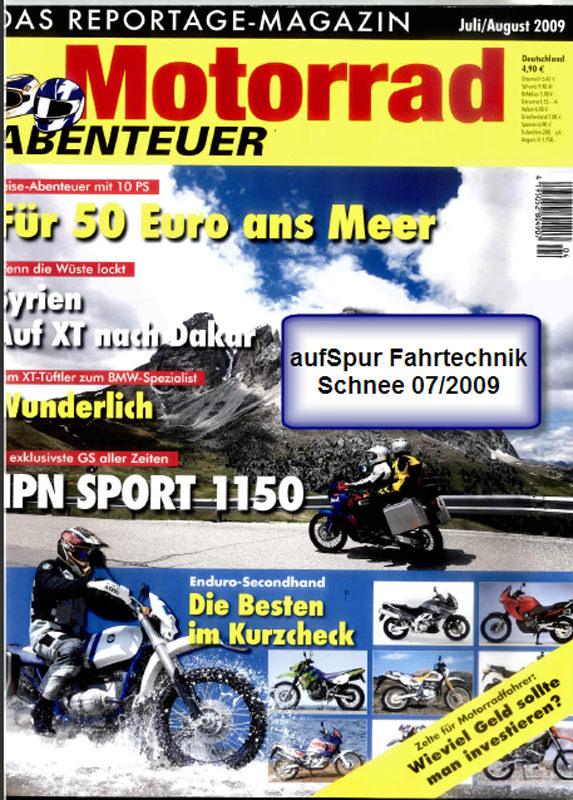 2009 Jul Motorradabenteuer Fahrtechnik Schnee