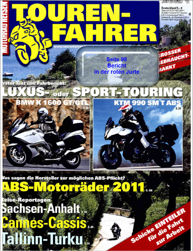 2011 April Tourenfahrer Jurte
