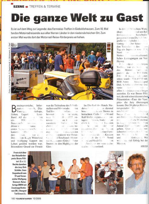 2006 Okt Tourenfahrer Förderpreis